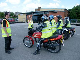 Ridesafe Motorcycle School students