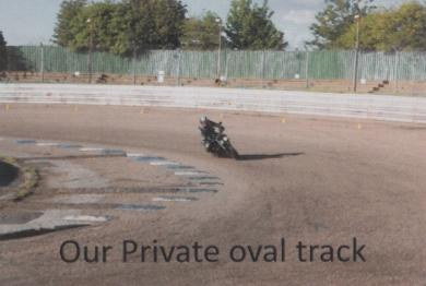 Wheels Motorctcle Training private oval track