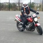 Trainee motorcyclist