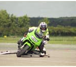 Knee down cornering