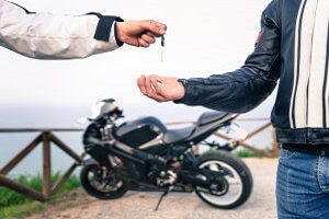 Keys to new motorbike