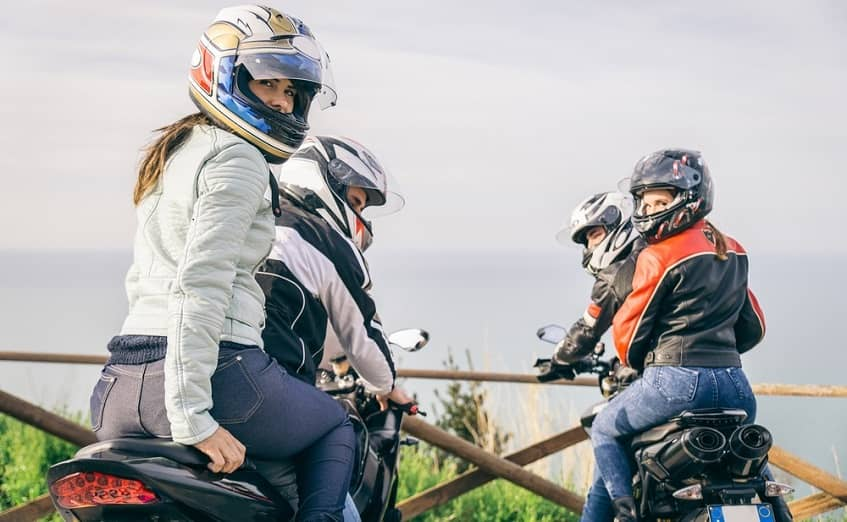 pillion riders