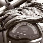 Gloves on motorbike speedo
