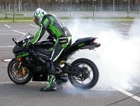motorbike back wheel spin