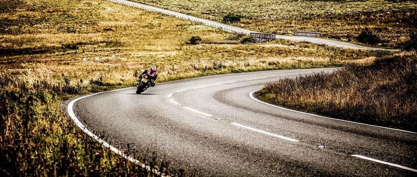 motorbike cornering