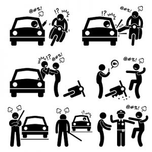 road rage graphic