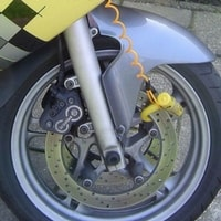 disc lock on motorbike