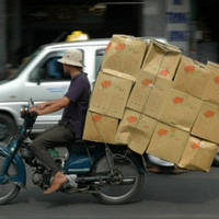 overloaded scooter