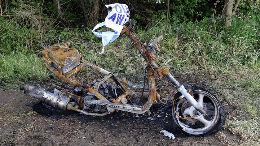 motorcycle in need of MOT!