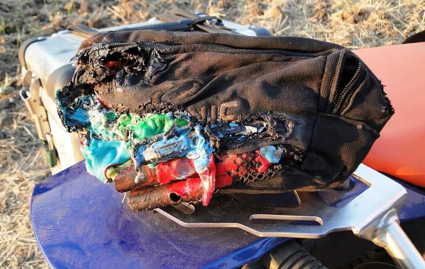 melted gloves