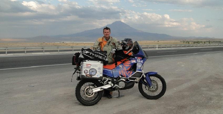 Motorbike on side of road
