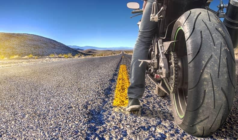 rear motorbike tyre