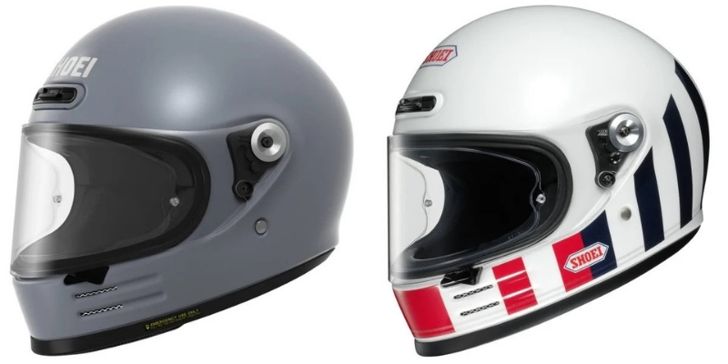 Shoei glamster motorcycle helmet variations